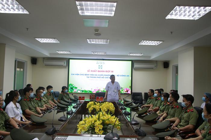 Lễ xuất quân đồng hành chống dịch cùng thành phố Hồ Chí Minh - Ảnh 1.