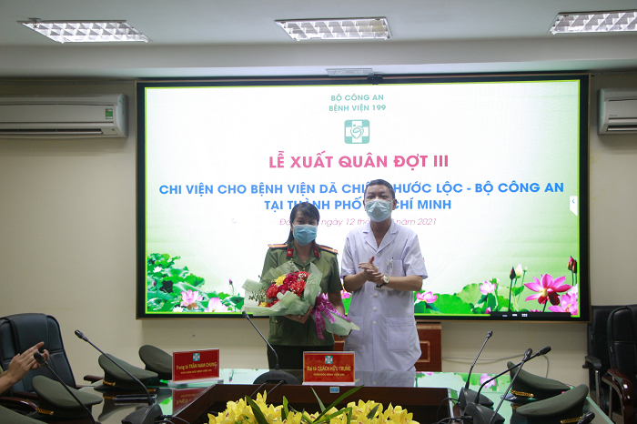 Lễ xuất quân đồng hành chống dịch cùng thành phố Hồ Chí Minh - Ảnh 2.