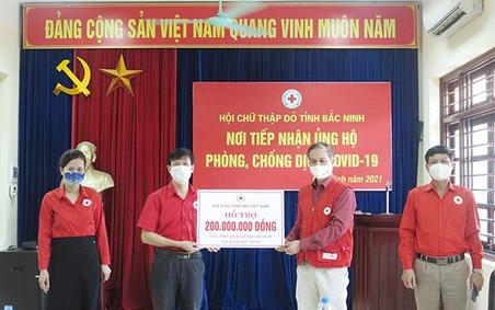 Trung ương Hội Chữ thập đỏ Việt Nam hỗ trợ tỉnh Bắc Ninh 200 triệu đồng phòng, chống dịch Covid-19